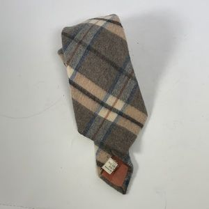 Burberry Wool Plaid Cashmere Wool Tie